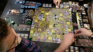 Den Tisch voller Pöppels und Marker - Heroes of Might & Magic