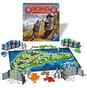 Orongo ist ein einfaches Familienspiel von Ravensburger