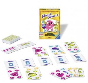 Tausch Rausch ist ein enfaches Kartenspiel, bei dem man seine Mitspieler immer im Auge haben sollte