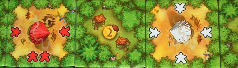Gespielt wird bei Cacao auf einem imaginären Schachbrett