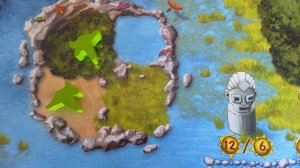 Die Paradiesvögel zeigen an, auf welchen Feldern in der aktuellen Runde gebaut werden darf