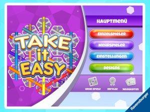 Der Startbildschirm bietet verschiedene Einstell- und Auswahlmöglichkeiten