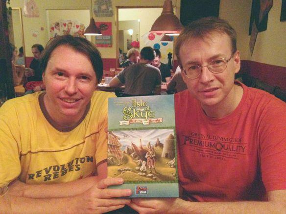 Alexander Pfister und Andreas Pelikangeben Tipps zu ihrem Spiel Isle of Skye