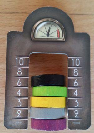 Das Gum-Gum-o-meter zeigt an, wie viele Punkte es für das Gum-Gum gibt. Aber Vorsicht: Es gibt zwei davon. Immer das richtige Messwerkzeug benutzen.