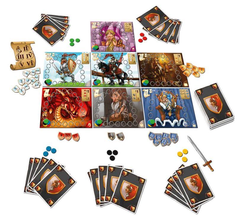 Gespielt wird bei der holden Isolde auf 7 einzelnen Spielbrettern.