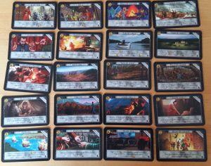 Von den 20 sind in dieser Erweiterung immer ein oder zwei im Spiel. Sie können wie eine Aktionskarte gekauft werden.