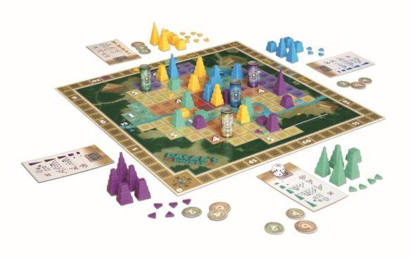 In Pacal`s Rocket müssen Pyramiden mithilfe geometrischer Figuren auf dem Spielplan gebaut werden