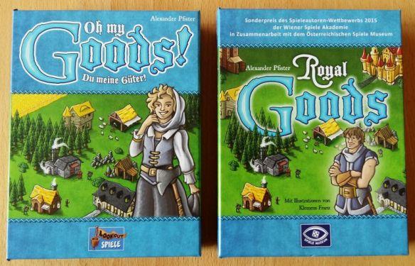 Oh my Goods (links) und der Vorgänger Royal Goods (rechts): Beide Spiele sind identisch.
