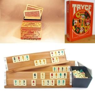 Panguingue aus Mexiko gilt als der Ur-Vater des Rommé. Tryce und Okey (unten) sind Varianten dieses Spiels.