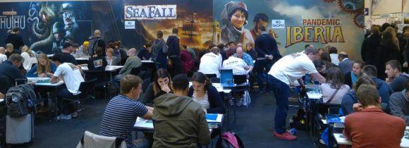Ein Trend auf der Messe: Legacy Spiele wie Seafall von Plaid Hat...