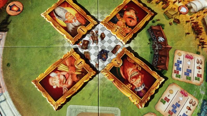 Chrakterwahl bei Mea Culpa: Zunächst wird auf einen Charakter geboten, mit dem man diese Runde spielt und dessen Privileg man benutzen kann