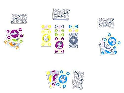 Hintergrund, Farbe oder Zahl müssen bei Freaky übereinstimmen, um eine Karte abzulegen