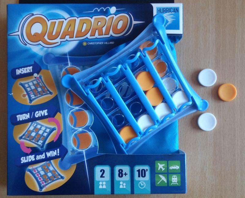 Quadrio von Hurrican eignet sich als Reisespiel und ist eine 3D-Variante des Klassikers Vier gewinnt
