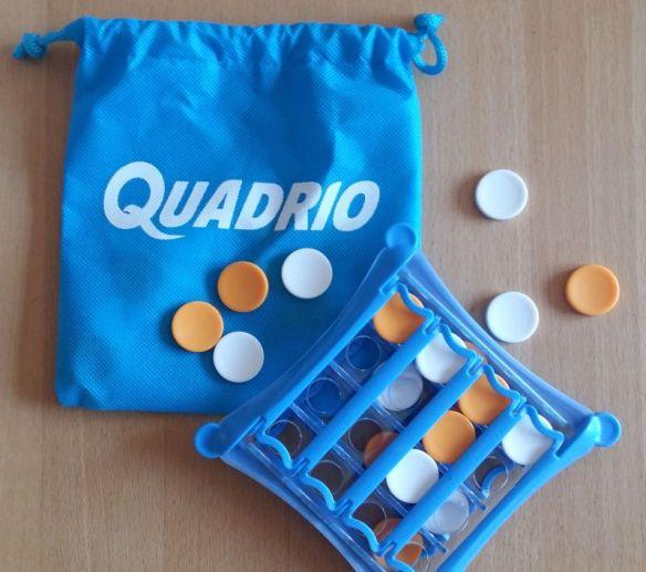 Durch den praktischen Sack ist Quadrio ideal für unterwegs