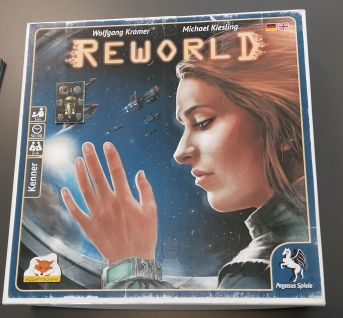 Fast fertig: Reworld hier noch als Musterschachtel