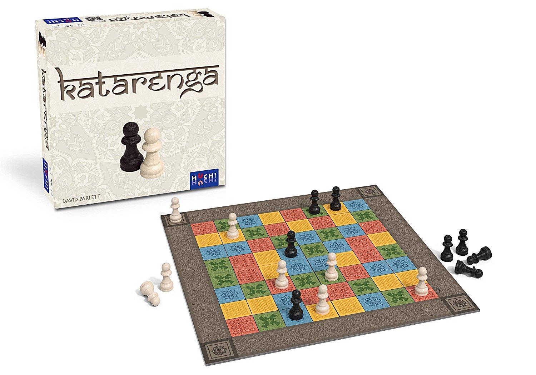 Katarenga ist eine Schachvariante, bei die bunten Felder die Zugmöglichkeiten vorgeben