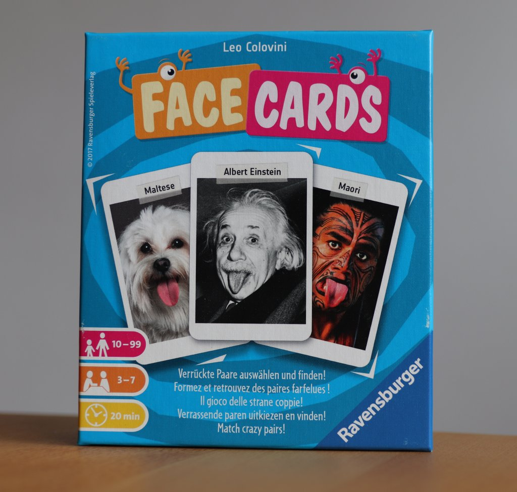 Facecards ist ein geselliges Spiel von Leo Colovini für bis zu sieben Spieler
